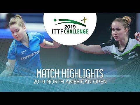 Elena Zaharia Vs Leonie Hartbrich   2019 ITTF North American Open Highlights (U21 R16)