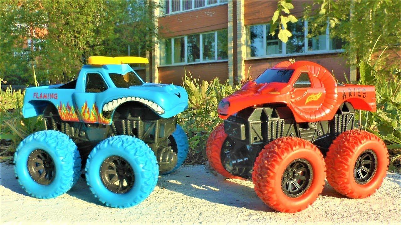 Машинки для детей Челлендж чья машинка дальше доедет игрушки для мальчиков
