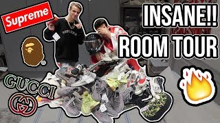 THE UK'S BIGGEST HYPEBEAST ROOM TOUR COLLECTION!! (INSANE)