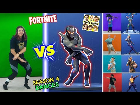 FORTNITE DANCE CHALLENGE in REAL LIFE #2 Season 4 Dances HYPE, ORANGE JUSTICE, GROOVE JAM & POC