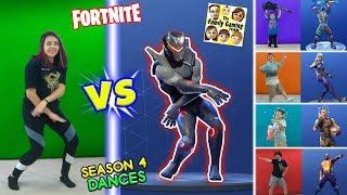 FORTNITE DANCE CHALLENGE en REAL LIFE #2 Temporada 4 Bailes HYPE, ORANGE JUSTICE, GROOVE JAM & POC