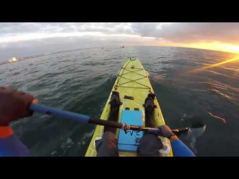 Kayak paddling at Vetchs, Durban