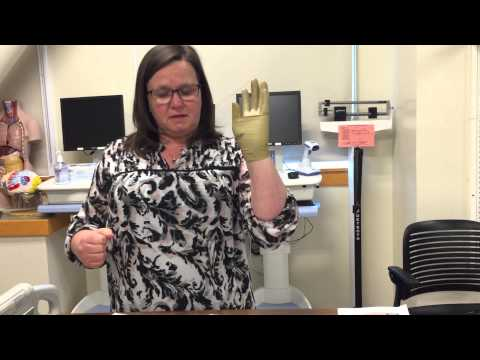 Hartnell College Nursing Skill Demo: Donning Sterile Gloves