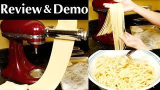 KitchenAid KSMPRA 3-Piece Pasta Roller & Cutter Attachment Set Review and Demo