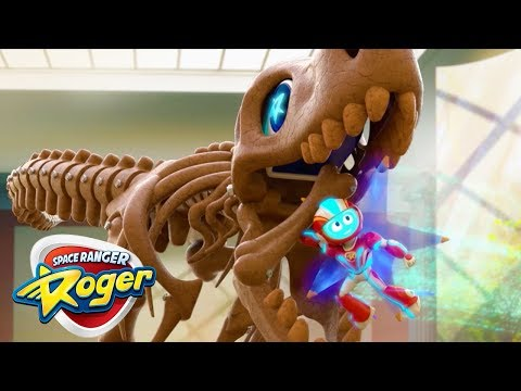 Cartoons For Children | Space Ranger Roger | Full Episode - Roger's T-Rex Trouble