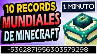 ✅ 10 Records Mundiales de Minecraft