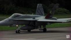 F/A - 18 der Schweizer Luftwaffe auf dem Flpl St.Stefan