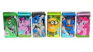 Chocolate Candy Drops Boxes Superman Minion and Green Lantern