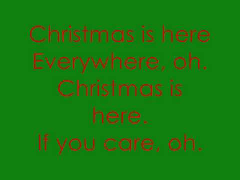Where Are You, Christmas by Faith Hill (with lyrics on the screen)