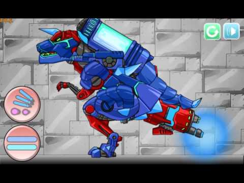Собрать робота динозавра (Dino Robot Tyrano And Tricera) - прохождение игры