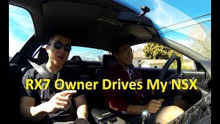 Mazda RX7 owner drives Acura NSX for the first time!