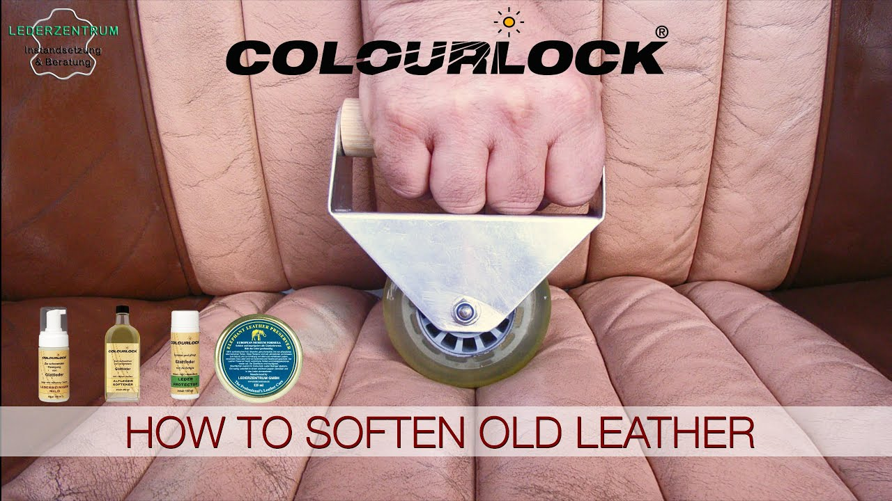 how to soften old leather of car seats youtube. Black Bedroom Furniture Sets. Home Design Ideas