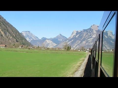 Austria: Traveling through mountainous scenery between Bad Ischl & Traunkirchen