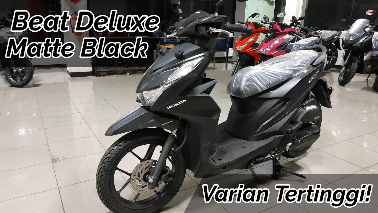 Review Honda Beat Deluxe Matte Black Hitam Doff 2020 Youtube