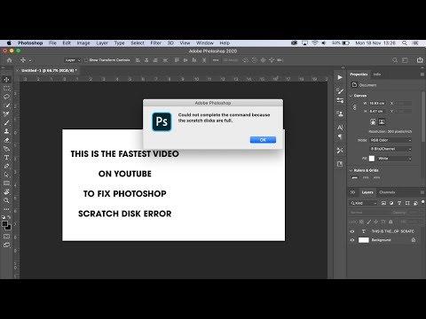 SCRATCH DISK Full FAST FIX | ADOBE Photoshop