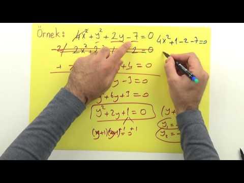 2. Dereceden iki bilinmeyenli denklemler Şenol Hoca Matematik