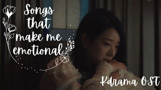 Songs That Make Me Emotional | Kdrama Ost Playlist