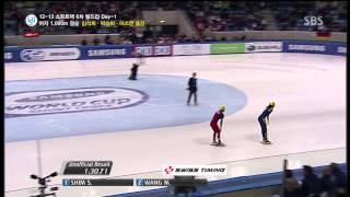 Gambar cover 2012-13 ISU 쇼트트랙 월드컵 6차 여자 1000m 결승 박승희 심석희 이소연