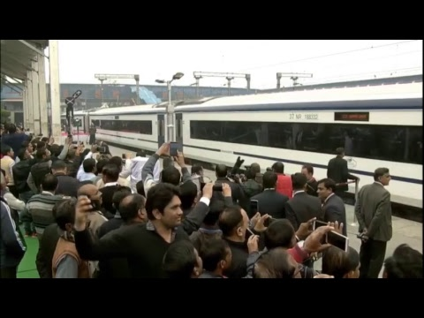 PM Narendra Modi flags off India's first Semi High Speed Train 'Vande Bharat Express'