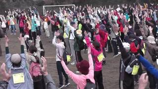 第20回 龍馬ハネムーンウォーク in 霧島 花はきりしま菜の花コース 2016年3月19日 開始前体操