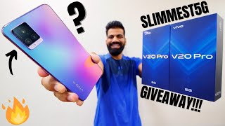vivo V20 Pro 5G Unboxing & First Look - Killer Camera Performance with 5G - GIVEAWAY