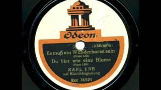Karl Erb singt zwei Lieder von Franz Liszt  ( 1914)