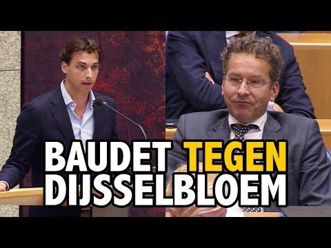 Baudet confronteert Dijsselbloem met falend economisch beleid