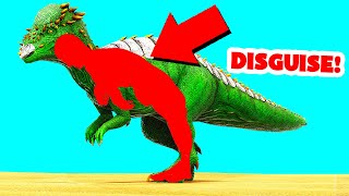 I RAIDED A BASE DISGUISED AS A DINO! (Ark Survival Evolved Trolling)