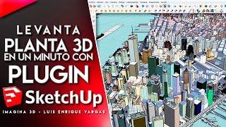 Levantar plano en Sketchup | Importar Autocad a Sketchup | PLUGIN