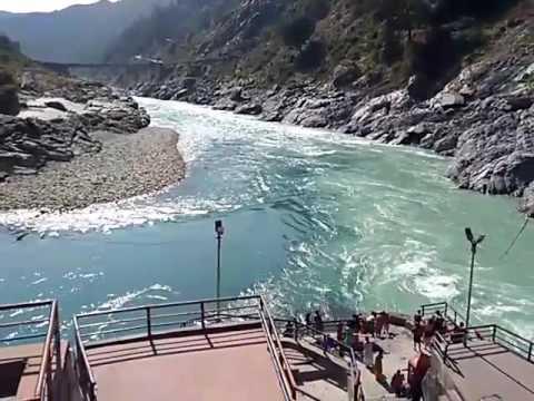 Devprayag - Uttrakhand - Sangam - Bhagirathi and Alaknanda - Formation of river Ganga (Ganges)