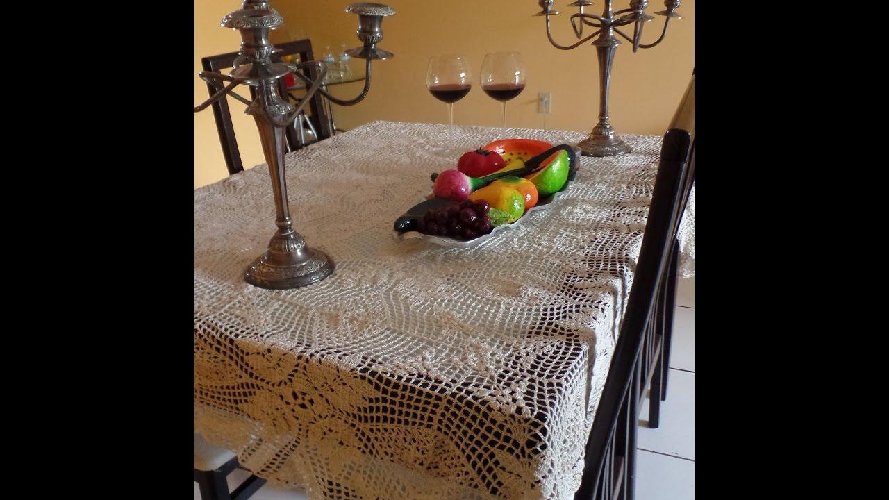 mantel de encaje tejido a crochet usando graficos internacionales