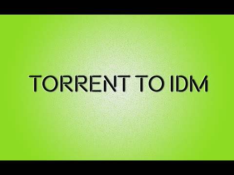 How to download torrent from IDM 2015