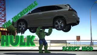 Repeat youtube video GTA IV The Incredible Hulk Script Mod