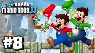New Super Mario Bros U Wii U - Part 8 World 6-1, 6-2, 6-Tower, 6-3, 6-4, & 6-5
