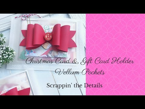 Christmas Card Gift Card Holder -YouTube Hop