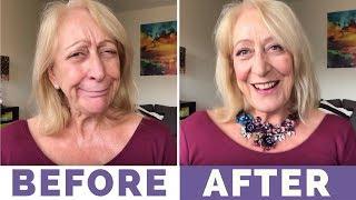 My Sparkly Makeup for Older Women Holiday Makeover - Makeup List Below :)