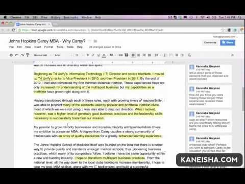 Live Edit by Kaneisha: Carey MBA - Why Carey?
