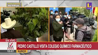 🔴 Pedro Castillo visita colegio químico farmacéutico en Surco