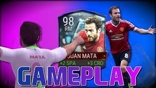 UPGRADED 95 LVL JUAN MATA REVIEW AND GAMEPLAY! FIFA MOBILE