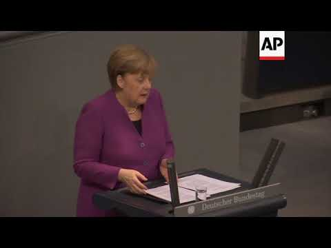 Merkel on Syria violence, urges EU solidarity on migration