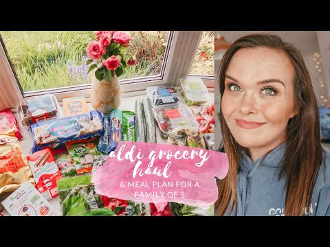 ALDI GROCERY HAUL & MEAL PLAN - FAMILY MEAL IDEAS - MAY 2020