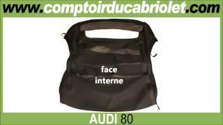 Capote pour Audi 80 cabriolet (Toile Alpaga, Toile Vinyle)