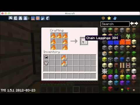 how to create chain armor in minecraft