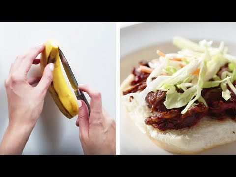 Can This Chef Make A Vegan Banana Peel Pulled Pork Sandwich? • Tasty