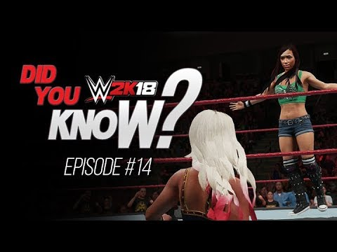 WWE 2K18 Did You Know? Unique Mid-Match Run-in's, New Moves, Free Cam Cutscenes & More! (Episode 14)