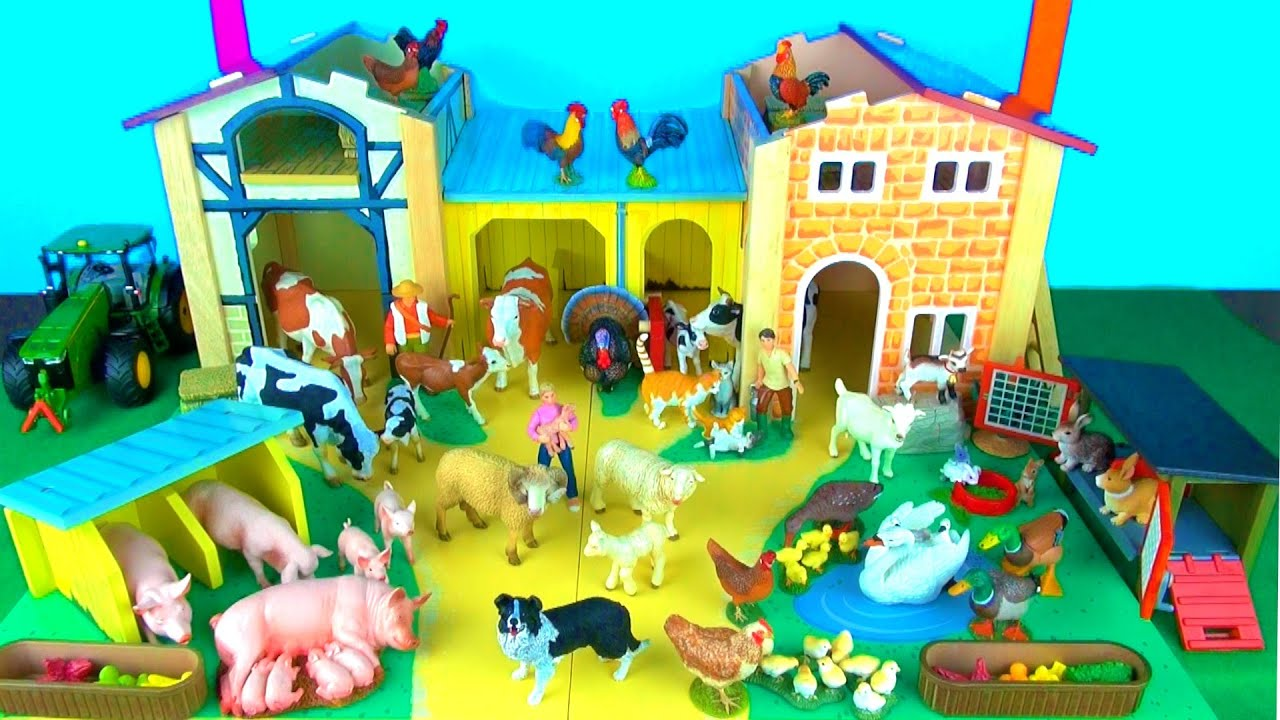 Toy Farm Animals for Kids Learn Fun Facts about Baby Farm