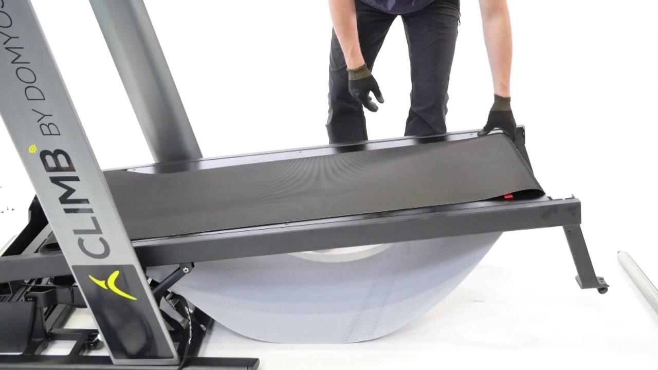 comment changer la planche sur un tapis de course climb
