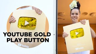 MY YOUTUBE GOLD PLAY BUTTON ✩ NKBLOG ✩