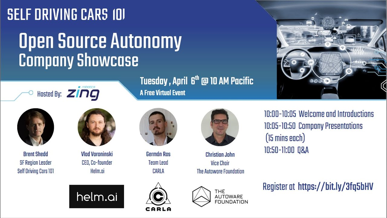 Self Driving Cars 101 - Online Events