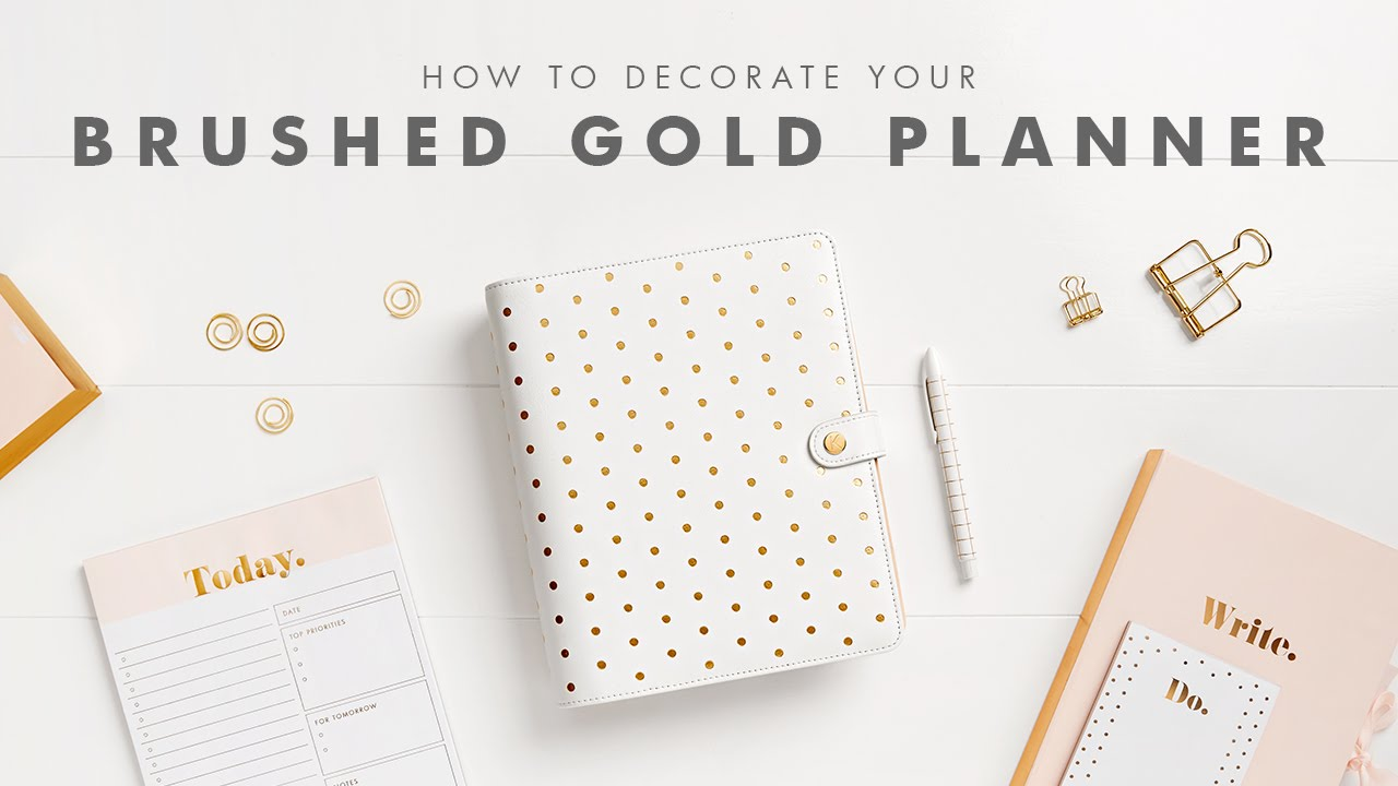 How to Get Organised with your Brushed Gold kikki.K Planner - YouTube